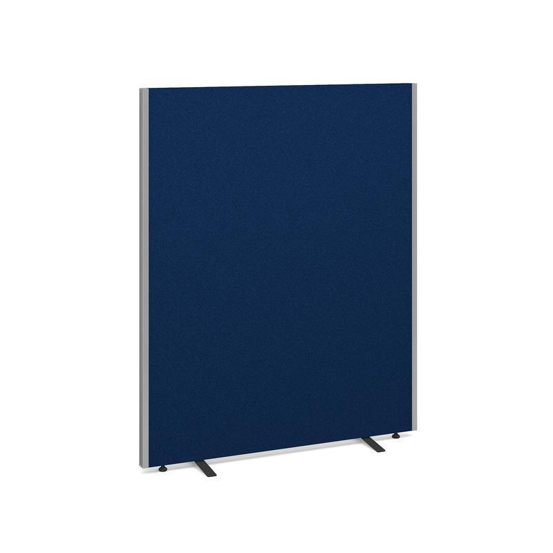 Floor standing fabric screen 1500mm high x 1200mm wide - blue - Furniture
