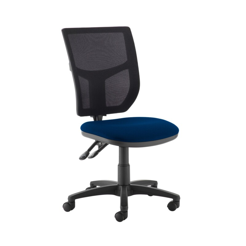 Altino 2 lever high mesh back operators chair with no arms - Curacao Blue - Furniture
