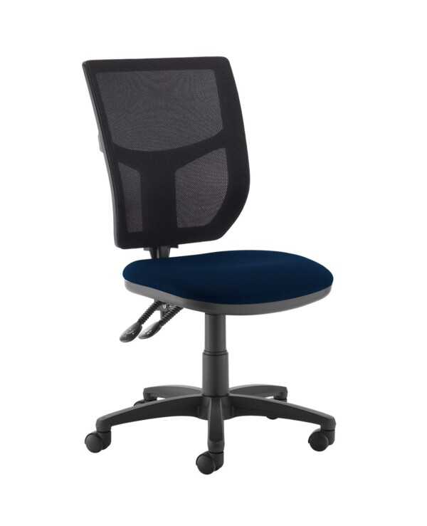 Altino 2 lever high mesh back operators chair with no arms - Costa Blue - Furniture