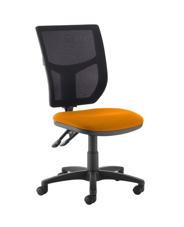 Altino 2 lever high mesh back operators chair with no arms - Solano Yellow - Furniture