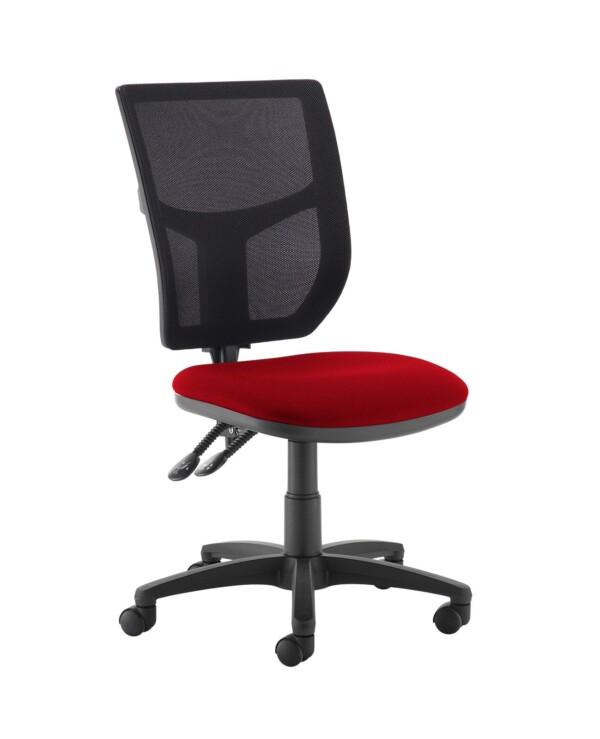 Altino 2 lever high mesh back operators chair with no arms - Panama Red - Furniture