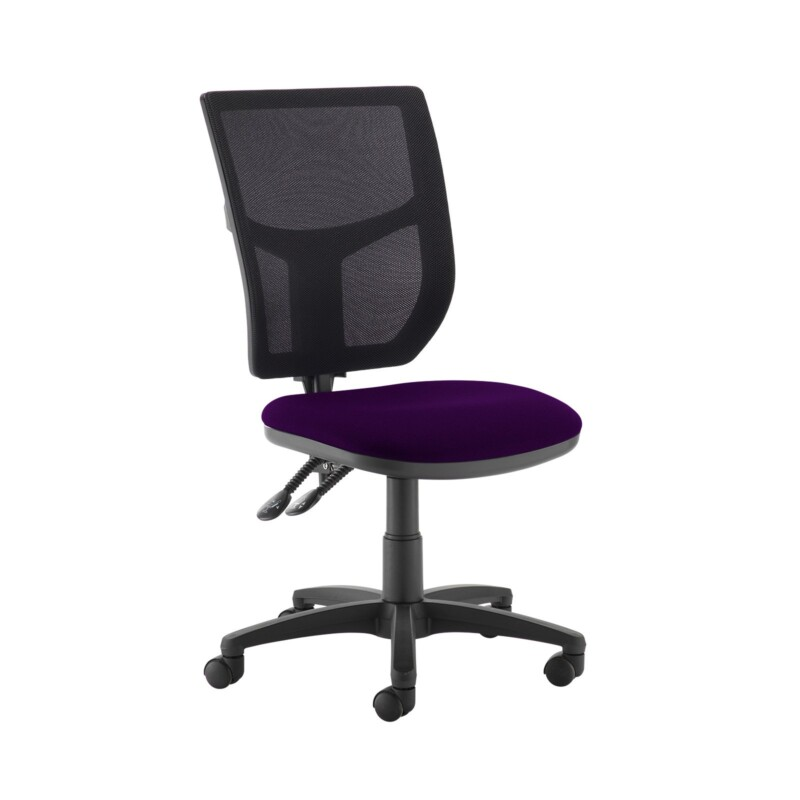 Altino 2 lever high mesh back operators chair with no arms - Tarot Purple - Furniture
