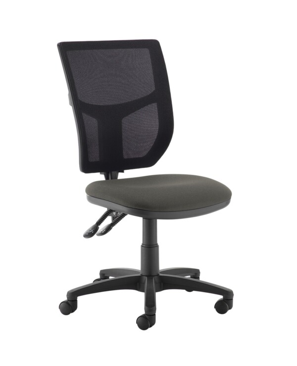 Altino 2 lever high mesh back operators chair with no arms - Slip Grey - Furniture
