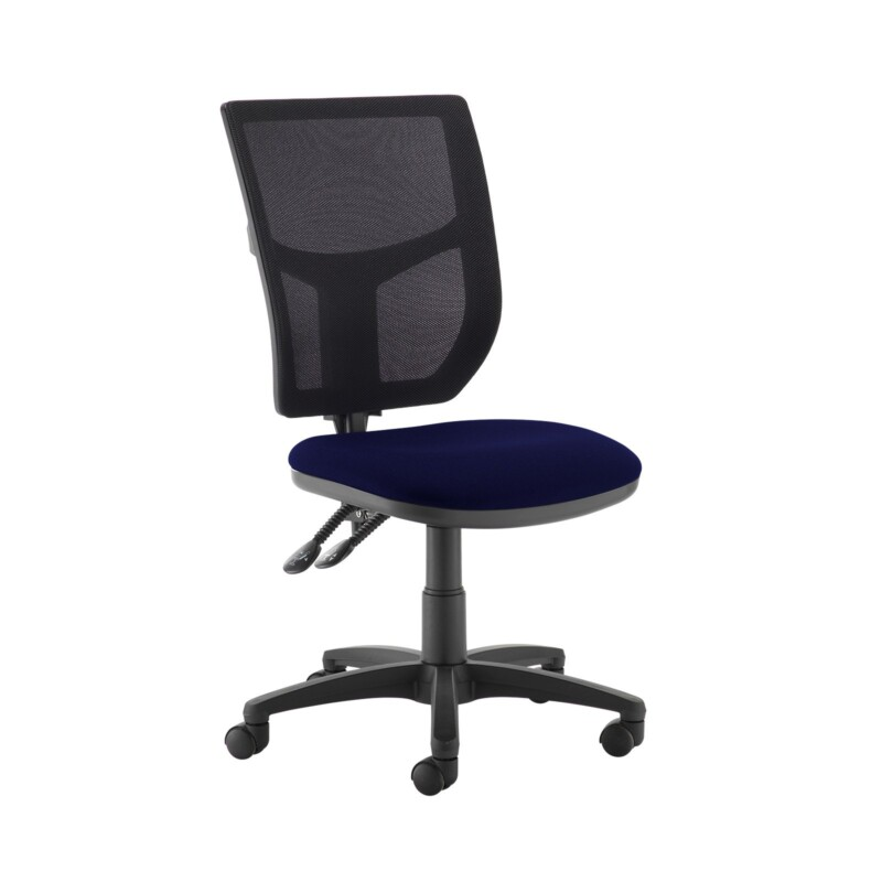 Altino 2 lever high mesh back operators chair with no arms - Ocean Blue - Furniture