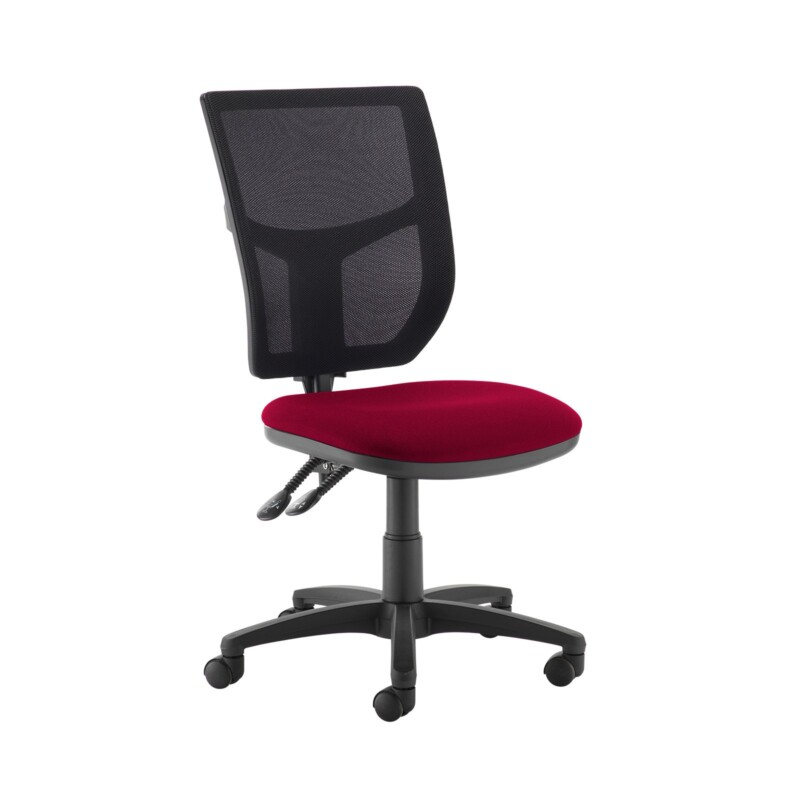 Altino 2 lever high mesh back operators chair with no arms - Diablo Pink - Furniture
