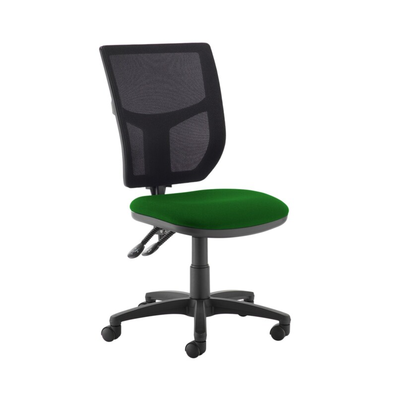 Altino 2 lever high mesh back operators chair with no arms - Lombok Green - Furniture