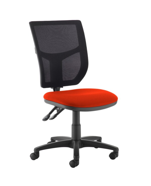 Altino 2 lever high mesh back operators chair with no arms - Tortuga Orange - Furniture