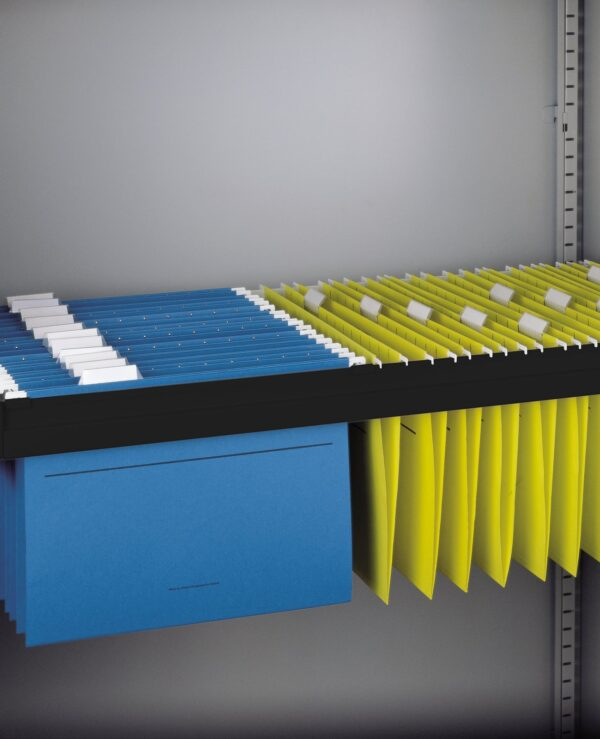Roll out filing frame for Bisley systems storage cupboards and tambours - black - Furniture