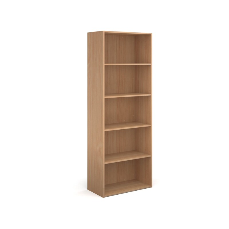Contract bookcase 2030mm high with 4 shelves - beech - Furniture