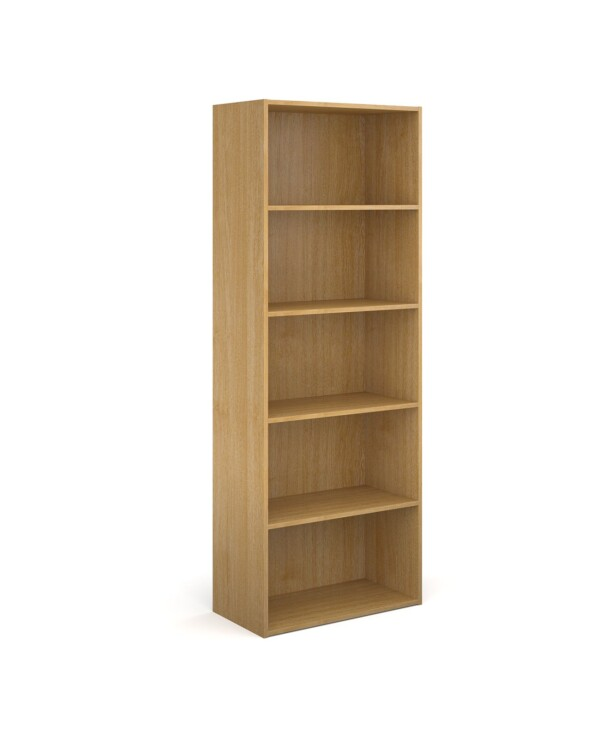 Contract bookcase 2030mm high with 4 shelves - oak - Furniture