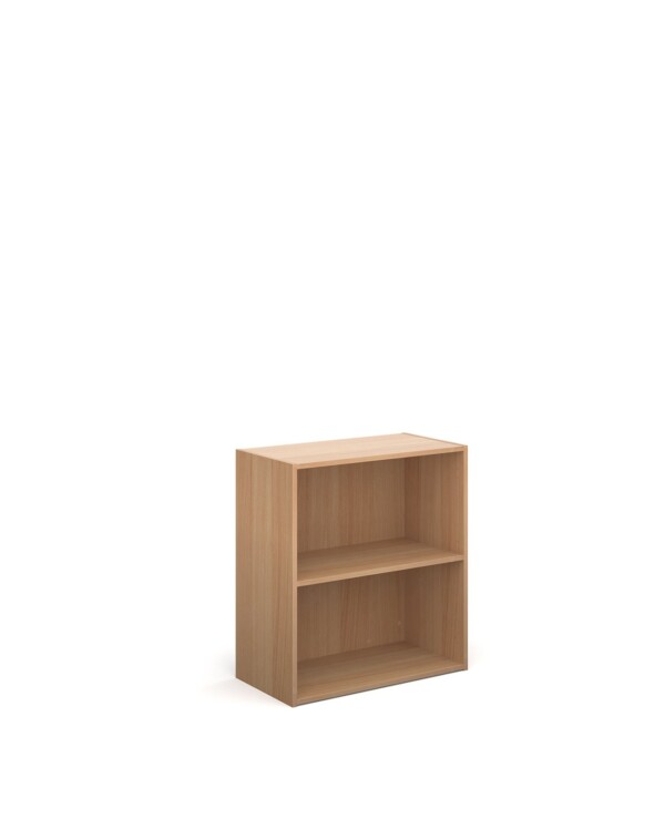 Contract bookcase 830mm high with 1 shelf - beech - Furniture