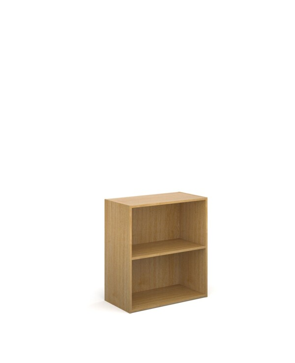 Contract bookcase 830mm high with 1 shelf - oak - Furniture