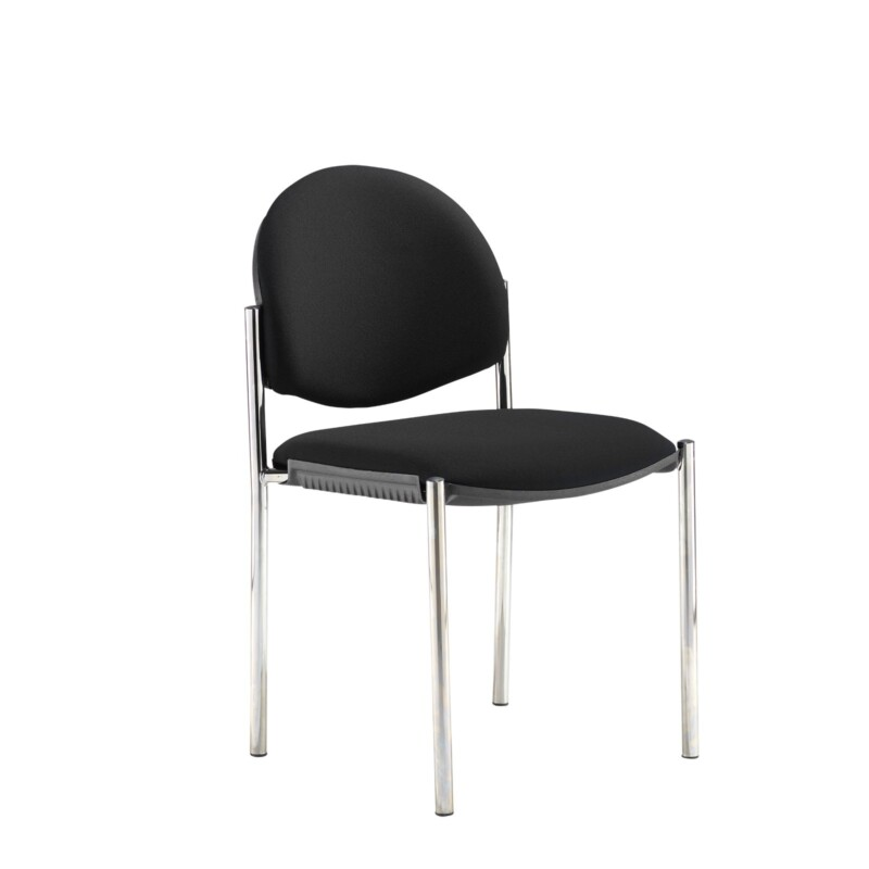 Coda multi purpose chair, no arms, black fabric - Furniture
