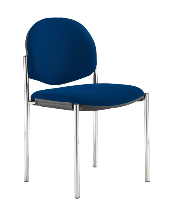 Coda multi purpose stackable conference chair with no arms - Curacao Blue - Furniture
