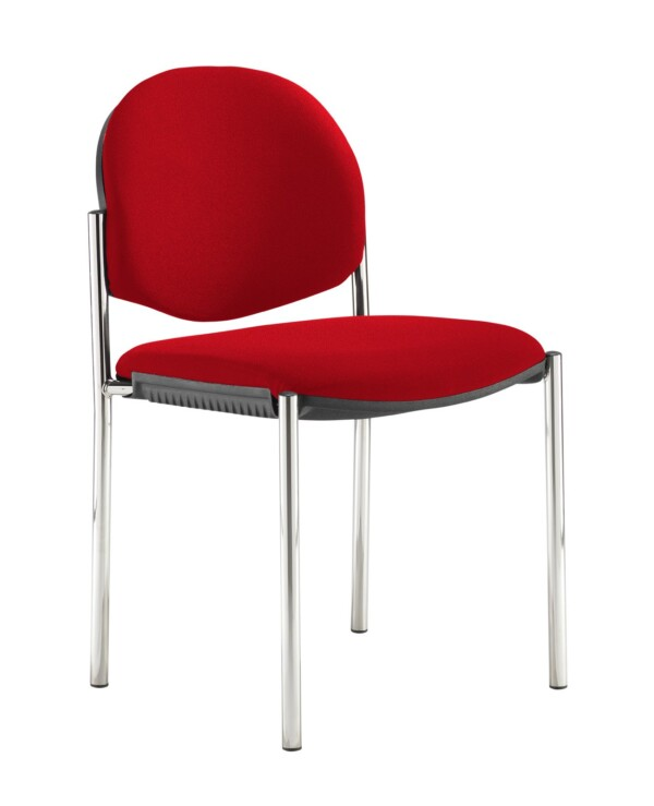 Coda multi purpose stackable conference chair with no arms - Panama Red - Furniture