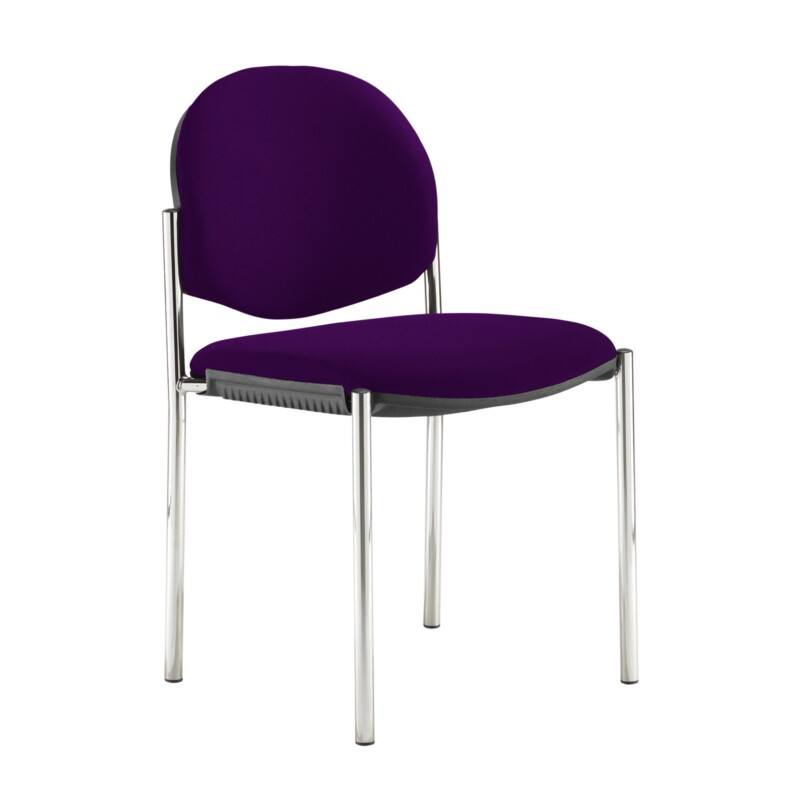Coda multi purpose stackable conference chair with no arms - Tarot Purple - Furniture