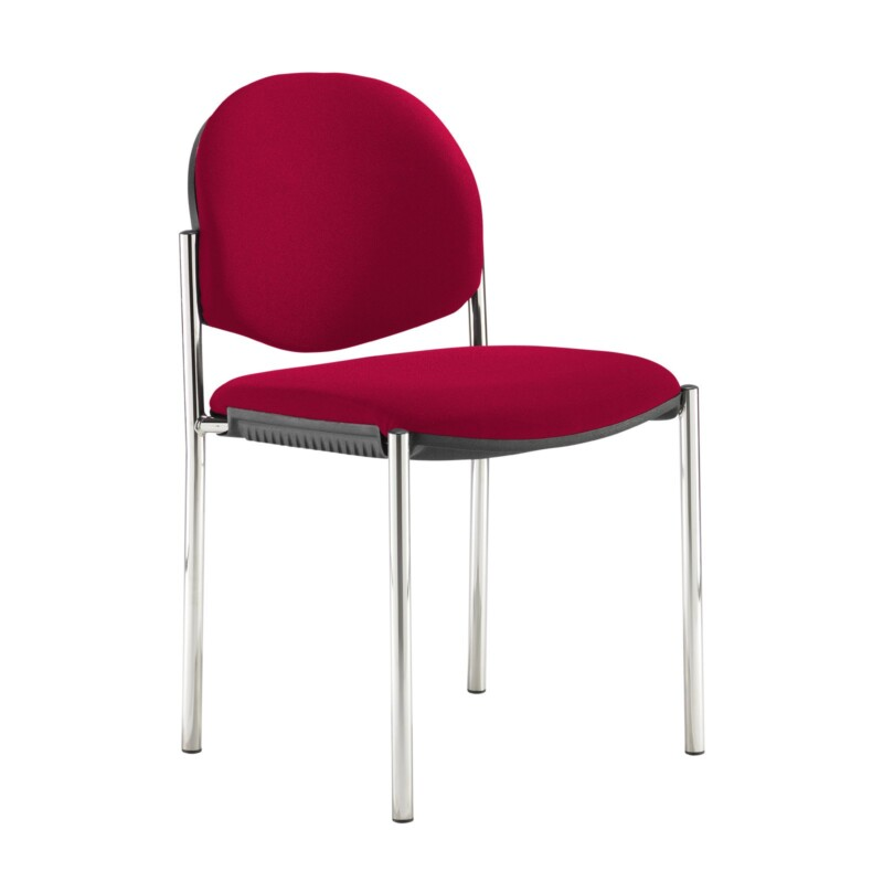 Coda multi purpose stackable conference chair with no arms - Diablo Pink - Furniture