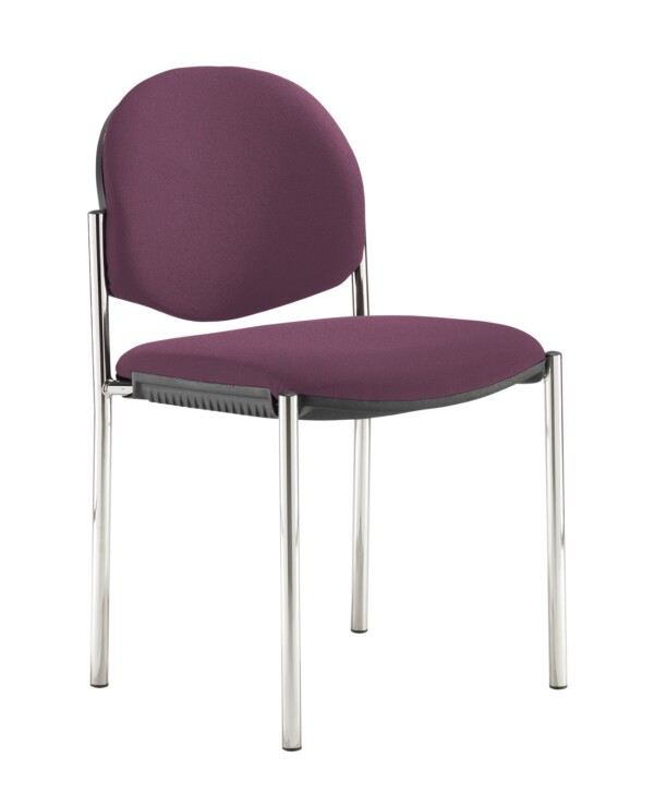 Coda multi purpose stackable conference chair with no arms - Bridgetown Purple - Furniture