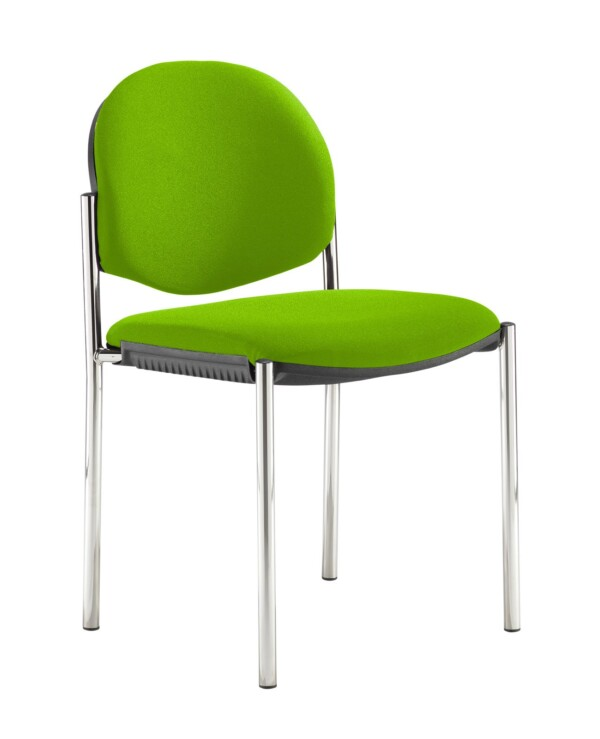 Coda multi purpose stackable conference chair with no arms - Madura Green - Furniture