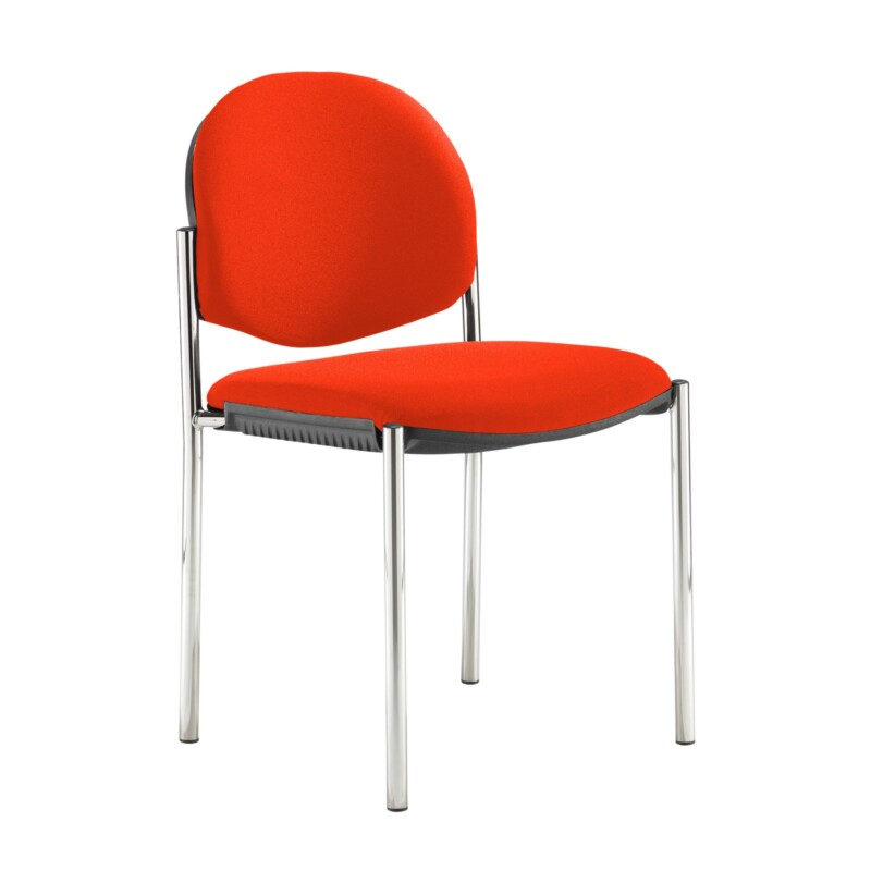 Coda multi purpose stackable conference chair with no arms - Tortuga Orange - Furniture