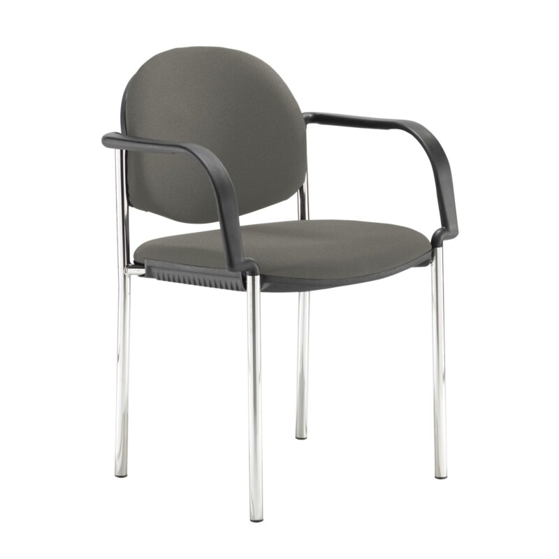 Coda multi purpose stackable conference chair with fixed arms - Slip Grey - Furniture