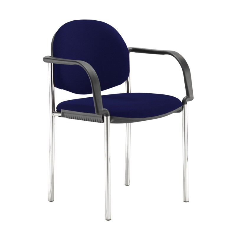 Coda multi purpose stackable conference chair with fixed arms - Ocean Blue - Furniture