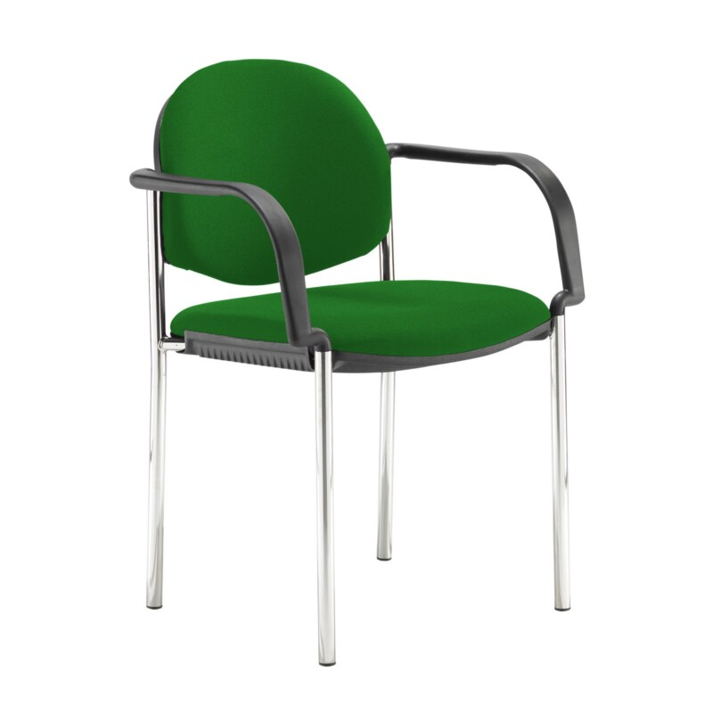 Coda multi purpose stackable conference chair with fixed arms - Lombok Green - Furniture