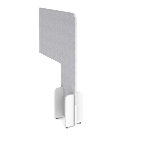 Desk division floor standing fabric screen - glass grey - Furniture