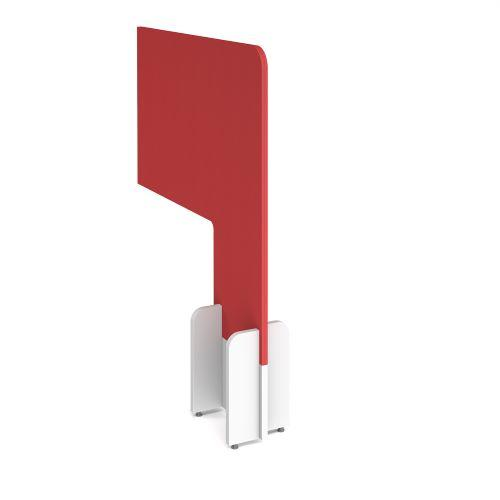 Desk division floor standing fabric screen - pitlochry red - Furniture
