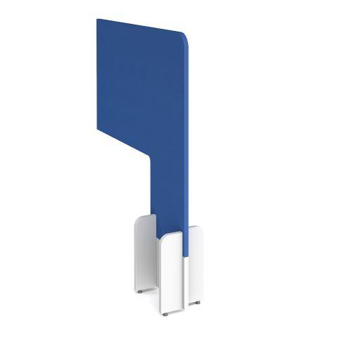Desk division floor standing fabric screen - galilee blue - Furniture
