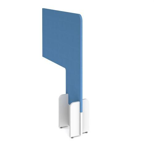 Desk division floor standing fabric screen - inverness blue - Furniture