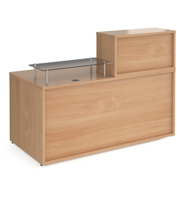 Denver medium straight complete reception unit - beech - Furniture