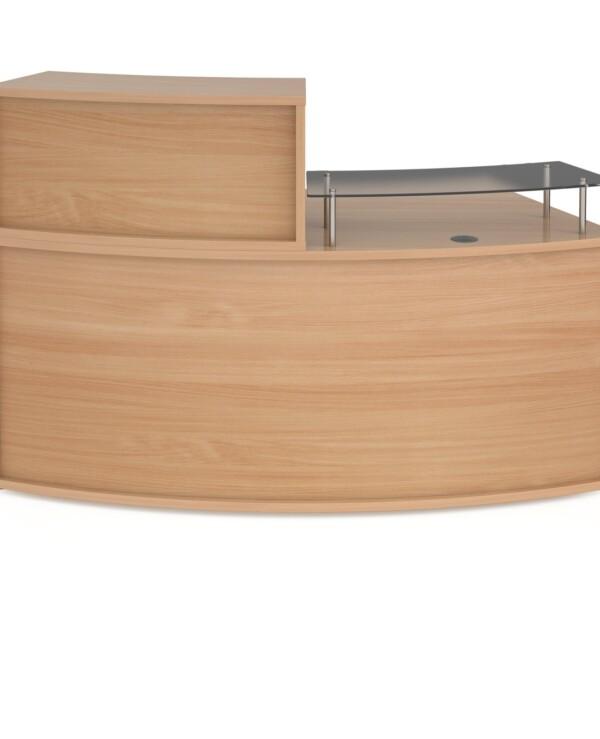 Denver medium curved complete reception unit - beech - Furniture