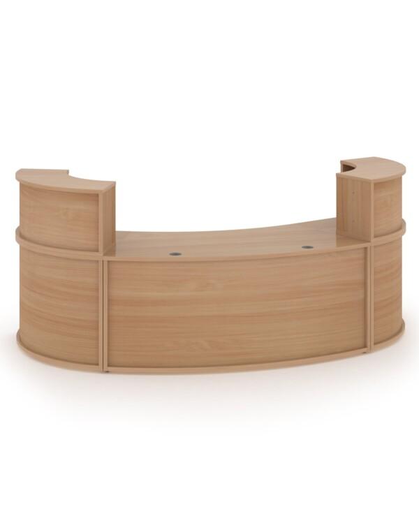 Denver large curved complete reception unit - beech - Furniture