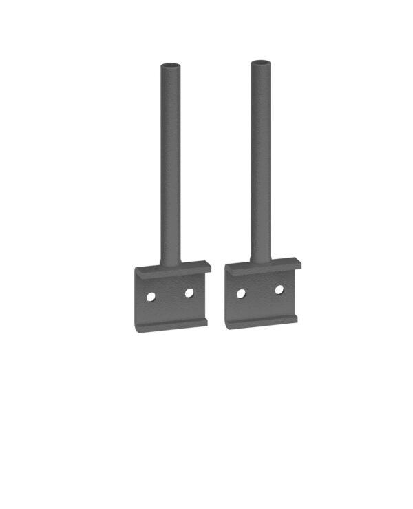 Universal fabric screen return desk brackets  (pair) - Furniture