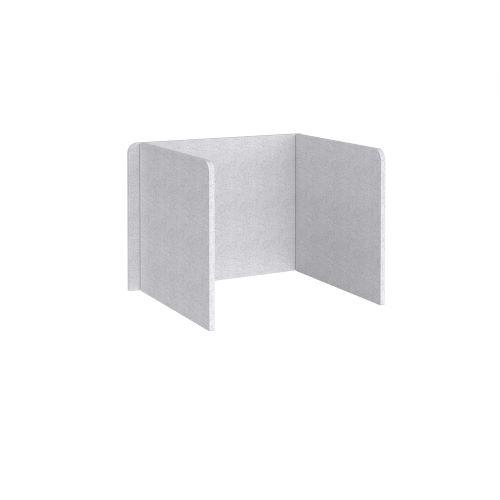 Free-standing 3-sided 700mm high fabric desktop screen 1000mm wide - glass grey - Furniture