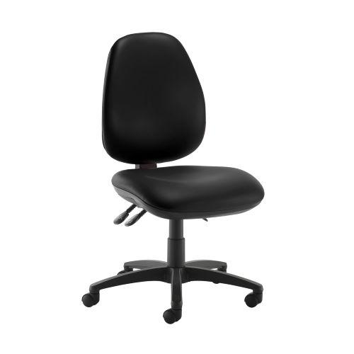Jota high back operator chair with no arms - Nero Black vinyl - Furniture
