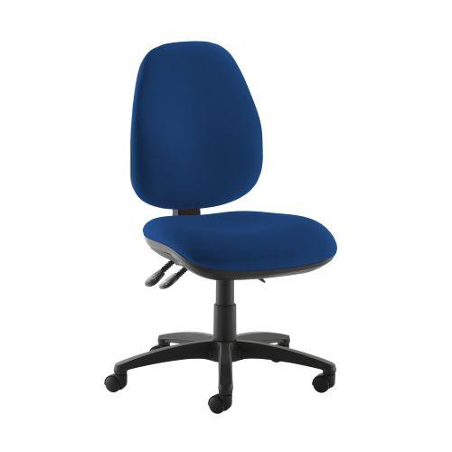 Jota high back operator chair with no arms - Curacao Blue - Furniture