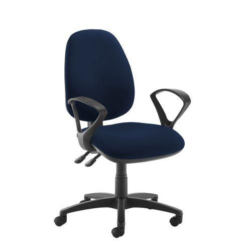 Jota high back operator chair with fixed arms - Costa Blue - Furniture