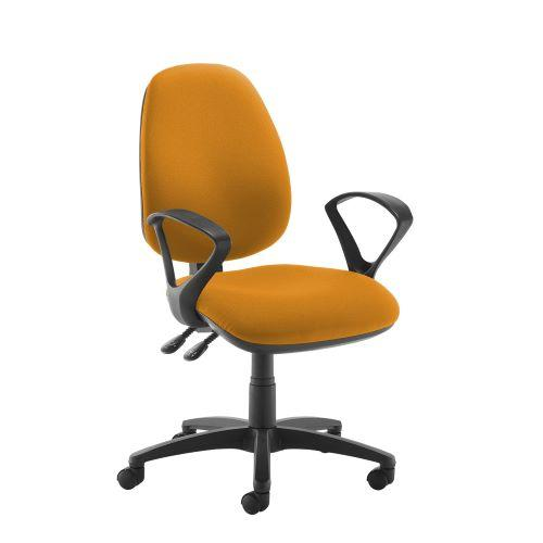 Jota high back operator chair with fixed arms - Solano Yellow - Furniture