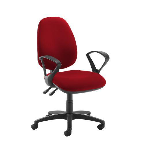 Jota high back operator chair with fixed arms - Panama Red - Furniture