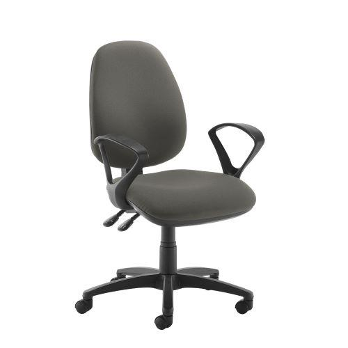 Jota high back operator chair with fixed arms - Slip Grey - Furniture
