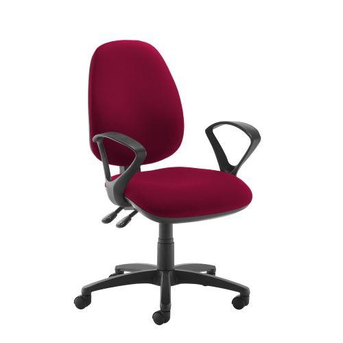 Jota high back operator chair with fixed arms - Diablo Pink - Furniture