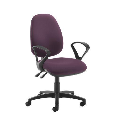 Jota high back operator chair with fixed arms - Bridgetown Purple - Furniture