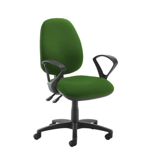 Jota high back operator chair with fixed arms - Lombok Green - Furniture