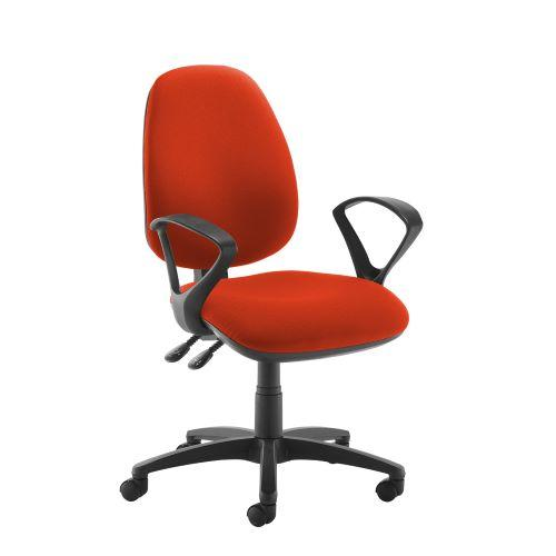 Jota high back operator chair with fixed arms - Tortuga Orange - Furniture