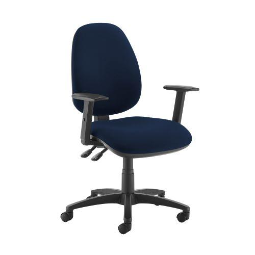Jota high back operator chair with adjustable arms - Costa Blue - Furniture