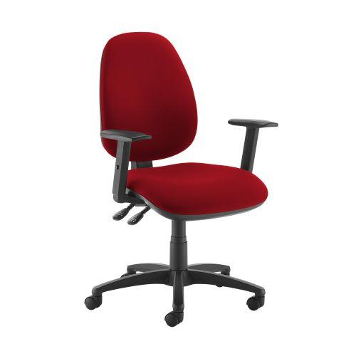 Jota high back operator chair with adjustable arms - Panama Red - Furniture