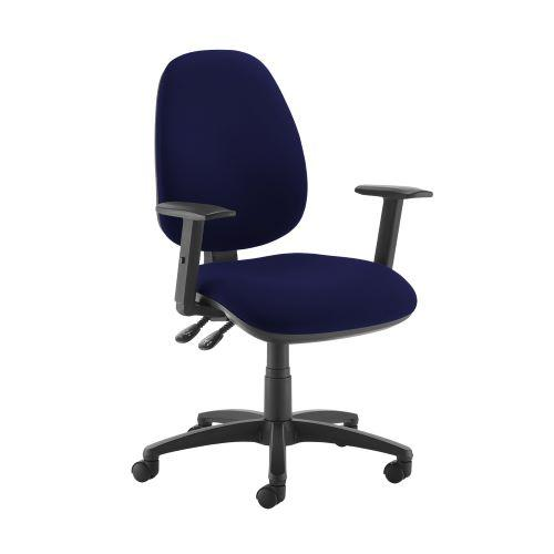 Jota high back operator chair with adjustable arms - Ocean Blue - Furniture