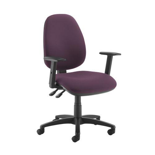 Jota high back operator chair with adjustable arms - Bridgetown Purple - Furniture